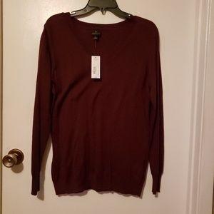 NWT Maroon lightweight sweater